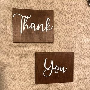 Wooden Thank You Signs